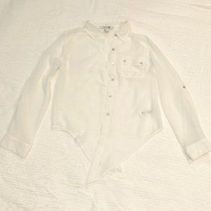 Forever 21 White Button-Down Blouse